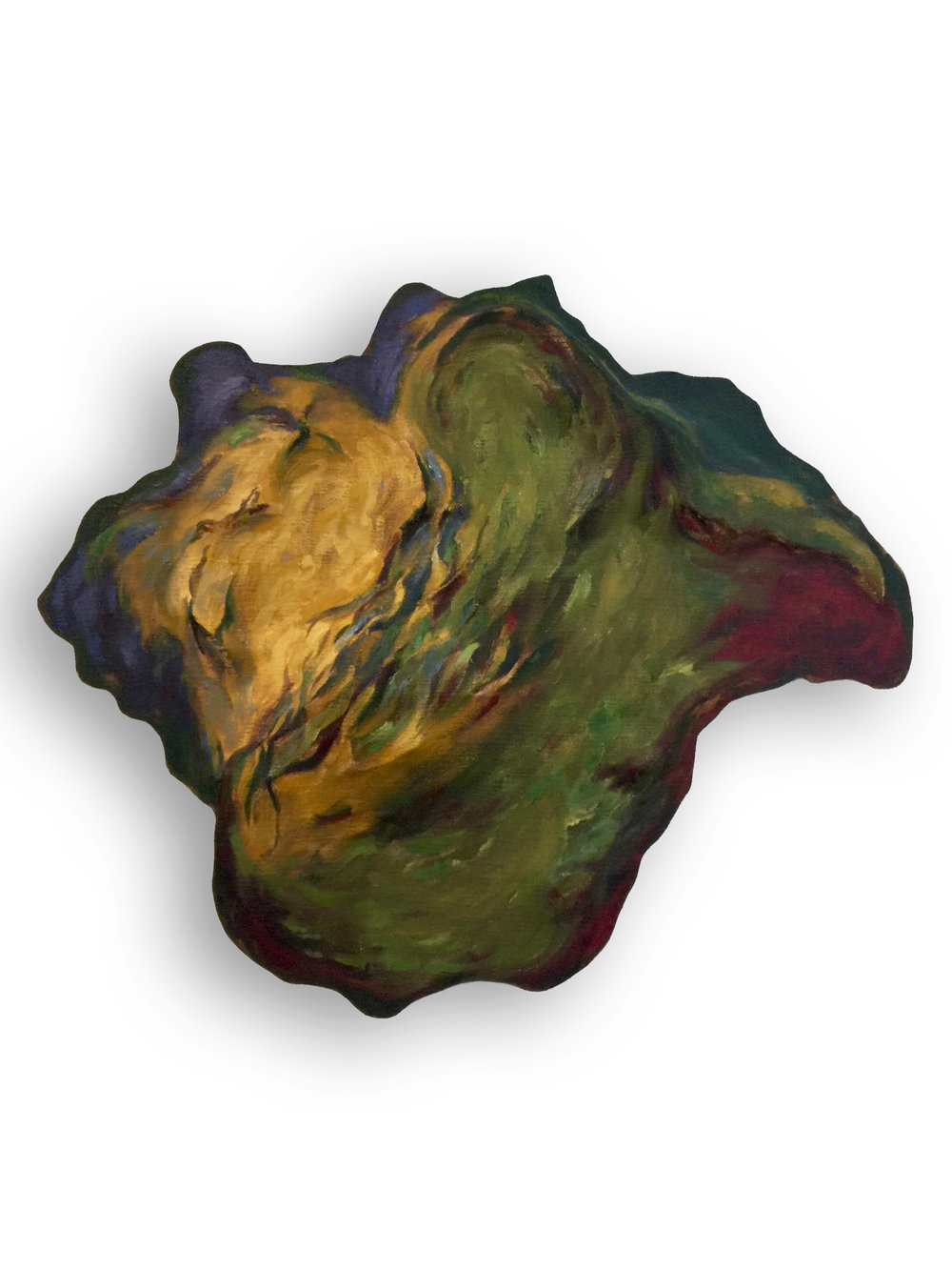 Untitled (Green and Purple Shell)