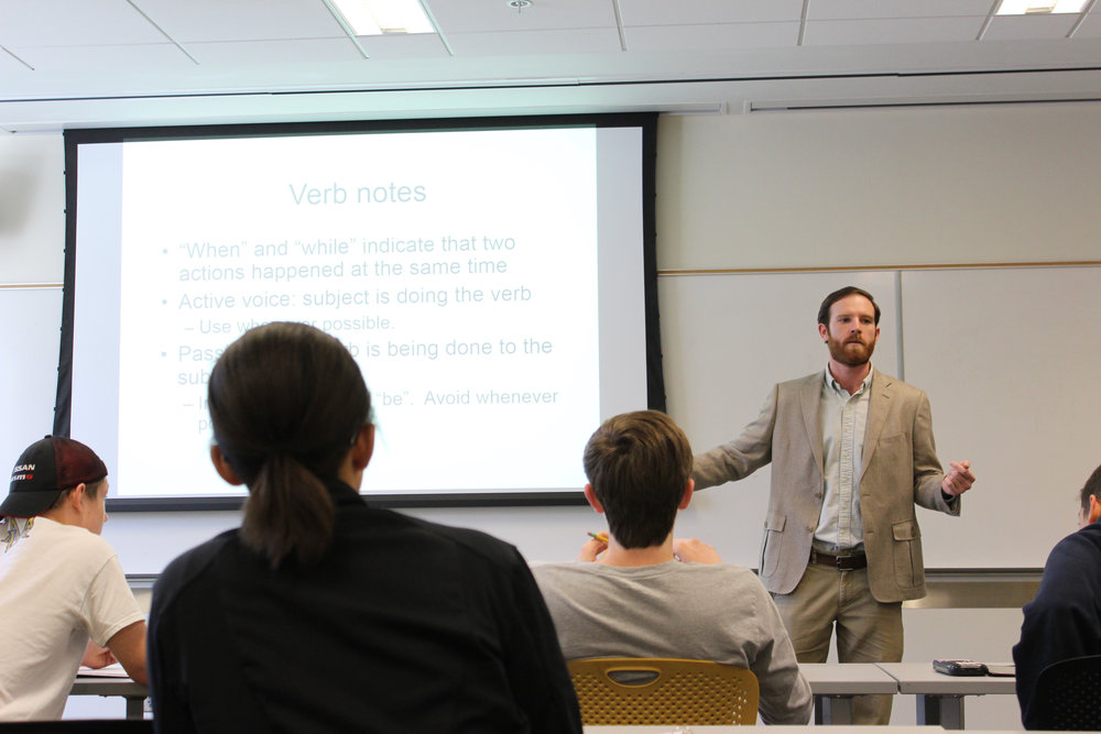 Kevin Lawkins Teaching an ACT class at Georgia Tech, Fall 2015