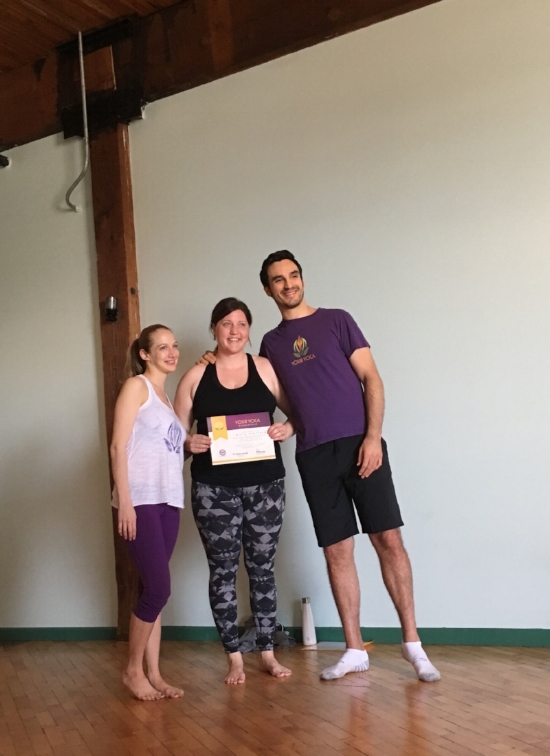 Me, my teaching certificate, and two of my yoga mentors, M & D, the founders of Your Yoga MN.