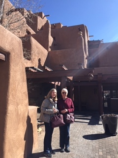 My sister and Mom in front of our hotel. We enjoyed beautiful, blue sky weather all weekend long.