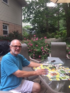 My step-Dad saves the labels from the plants in his garden. It was fun to sift through them and learn about the soil, light, pruning, fertilizing and watering preferences of different flowers, plants, bushes and trees.