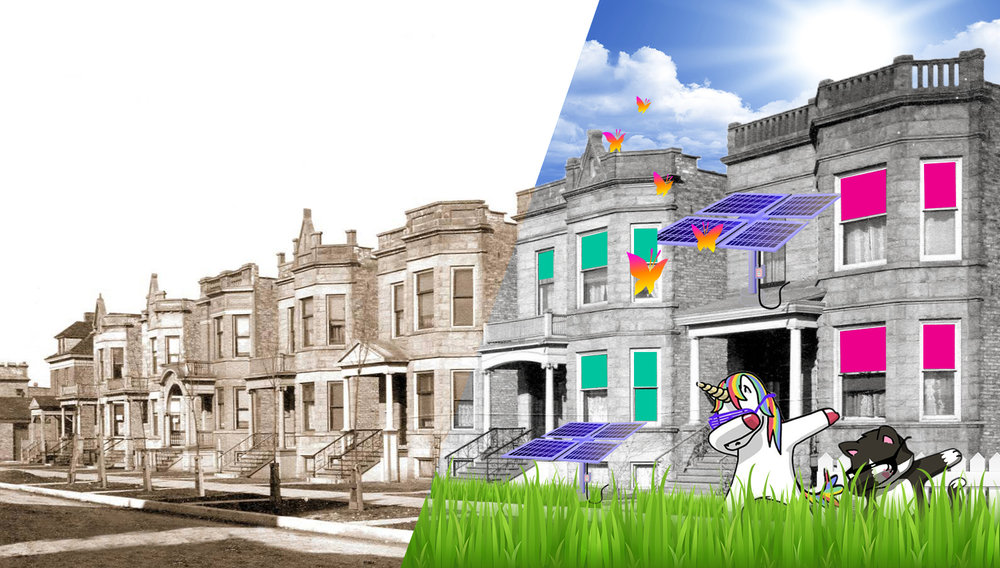 How do we (re)vitalize neighborhoods? (HINT: It takes more than some fresh paint, solar panels, and a cat and unicorn dabbing out on the sidewalk.)