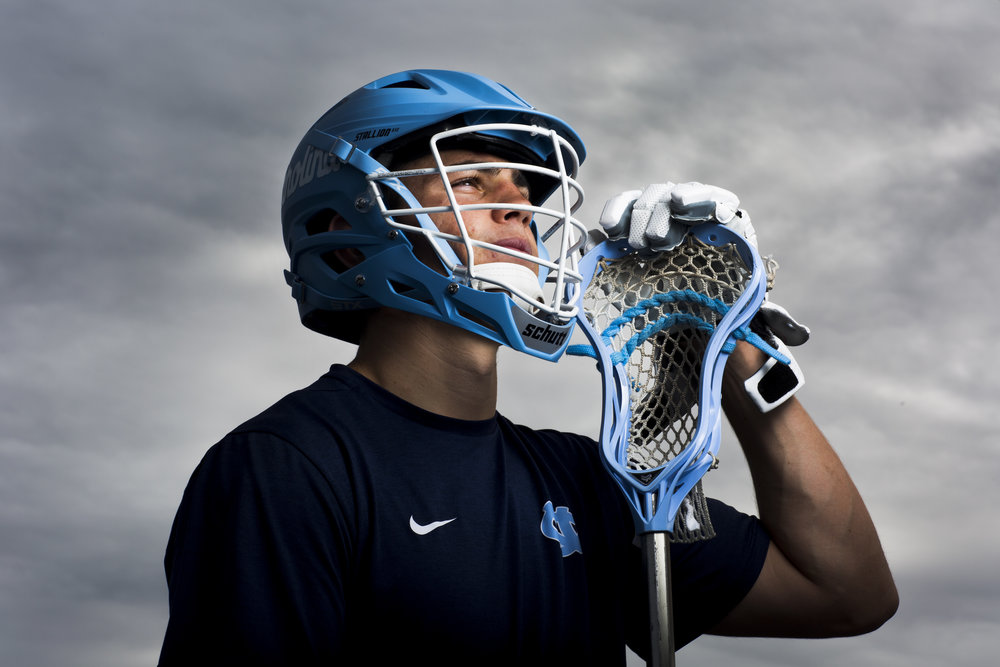 Michael Nathan, currently a sophomore at University of North Carolina, was a standout boys lacrosse player at Barron Collier High School in Naples, Fla. Despite his talent few schools offered him scholarships to play lacrosse. However, after playing a year at Colby College in Maine Nathan decided to try out as a walk on for the 2016 national champion North Carolina Tar Heels. Nathan made the 2017 roster, becoming the first boys player from Southwest Florida to be on a major college lacrosse power's roster. Here he is at Barron Collier High School Friday, Dec. 23, 2016 in Naples.