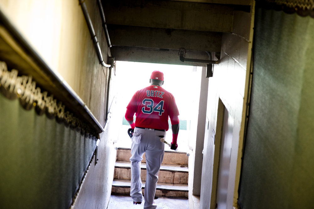Boston Red Sox first baseman David Ortiz enters Hammond Stadium for the last time in his illustrious career as he prepares to take on the Minnesota Twins in a spring training game Thursday, March 31, 2016 in Ft. Myers, Florida. Ortiz plans to retire at the end of the 2016 campaign after guiding the Red Sox to three World Series titles.