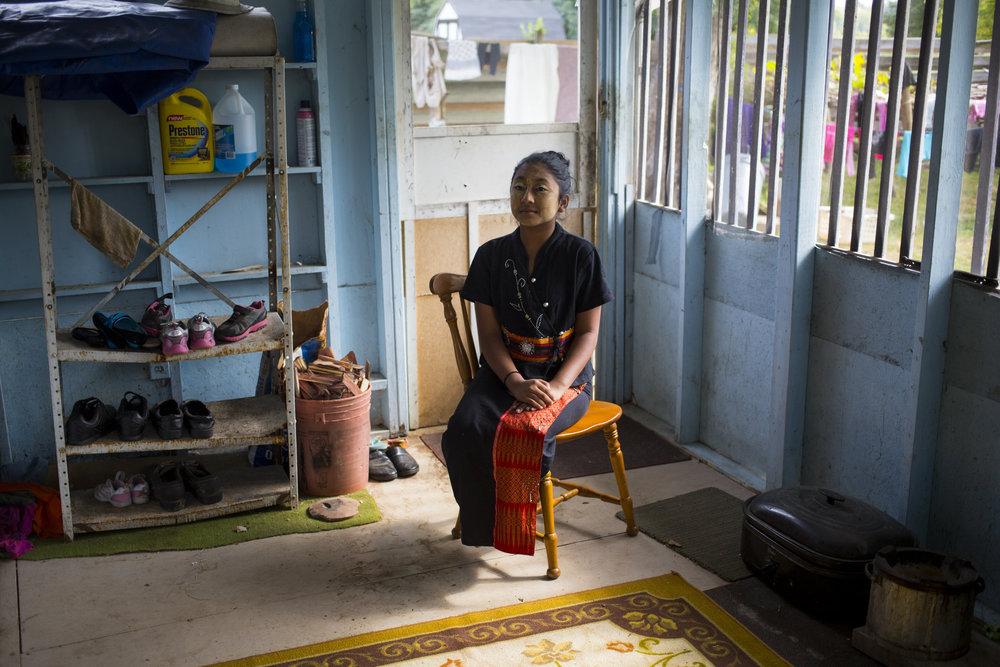Burmese refugee Ahsama Fahtima. Fall 2015.