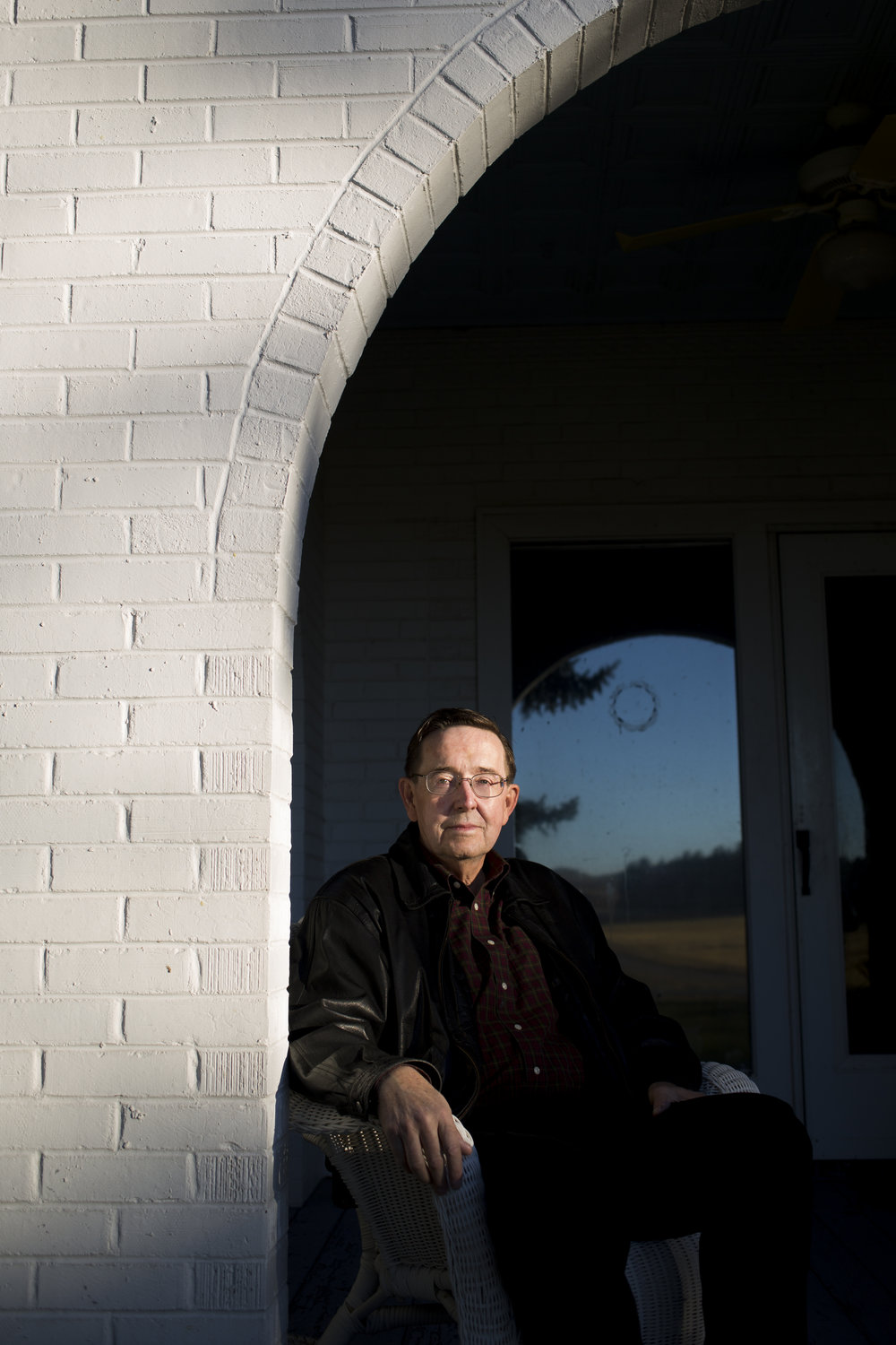 Nebraska State Senator Al Davis outside his home in Hyannis, Nebraska November, 3, 2015.