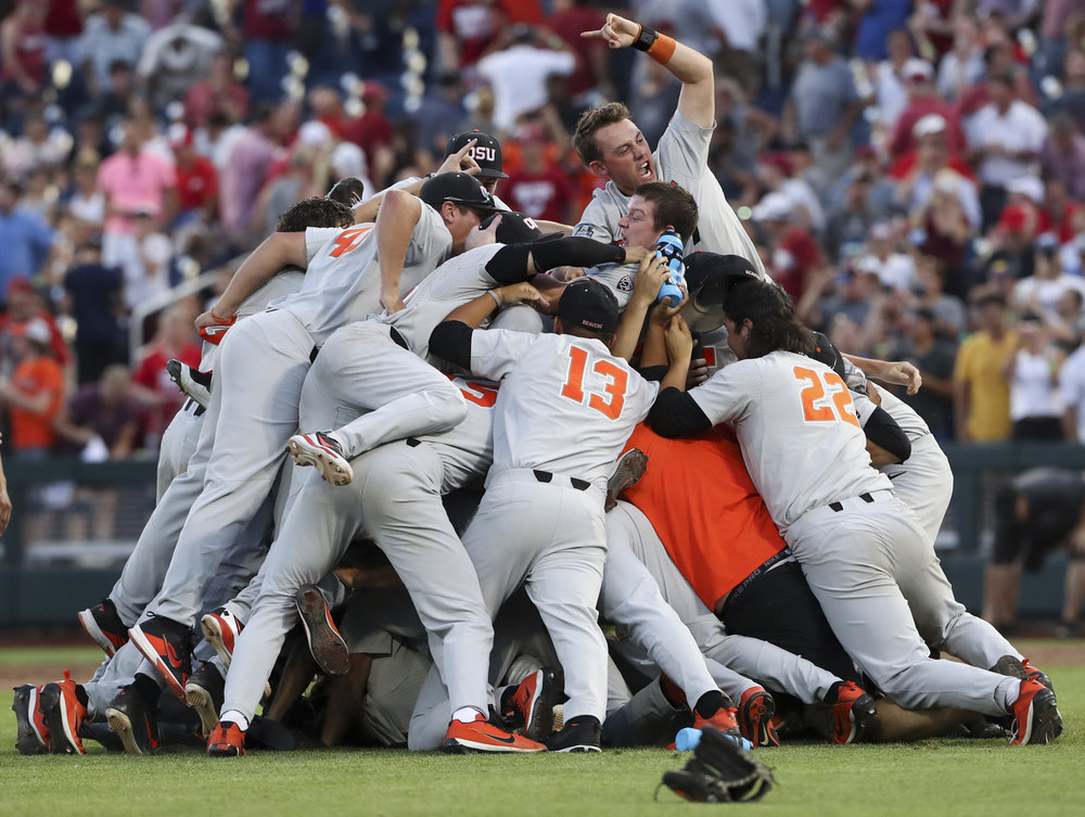 Oregon State wins the 2018 College World Series. Omaha, Neb.