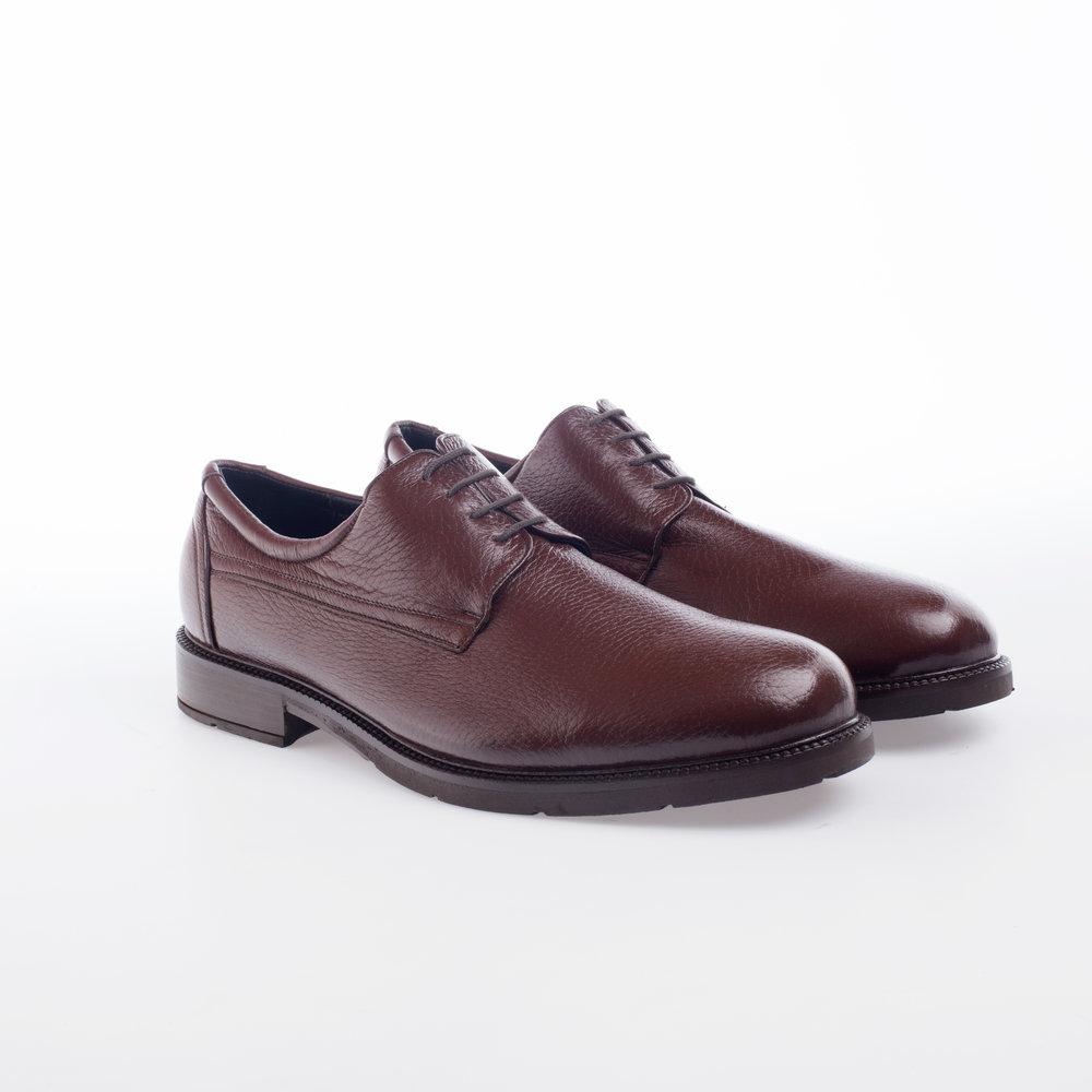 5204 Marrone  $1,399 MX  Zapato Derby liso, Piel Venado con textura, Alto Confort.