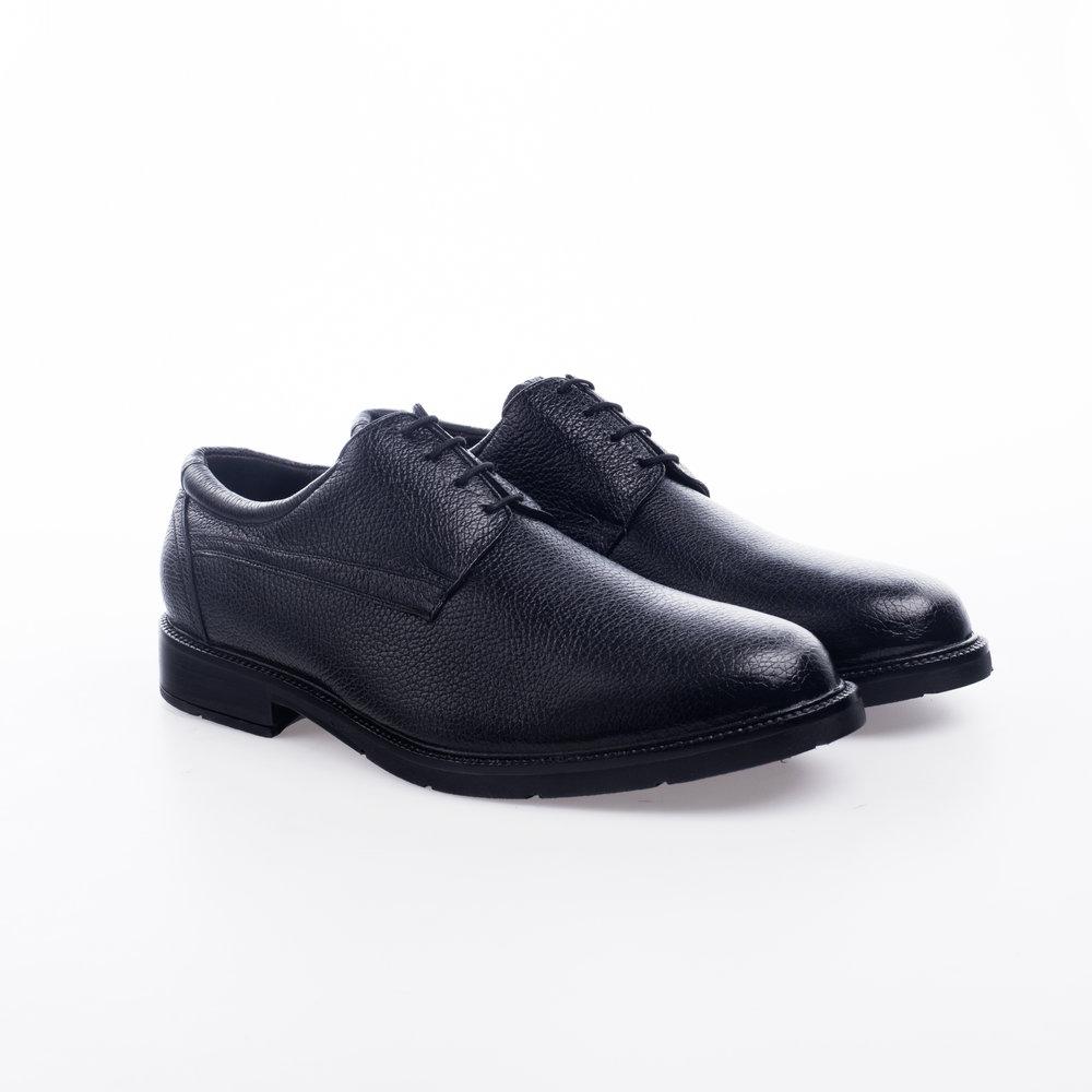 5204 Negro $1,399 MX Zapato Derby liso,Piel Venado con textura, Alto Confort.
