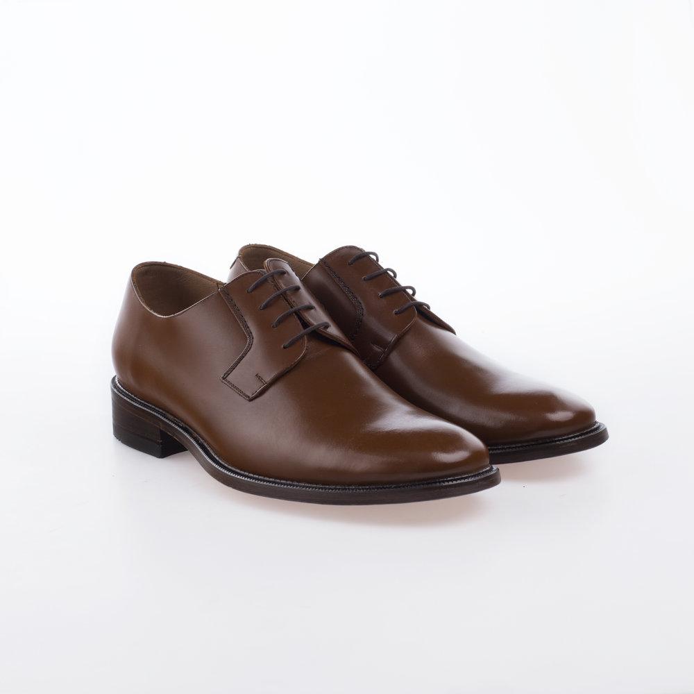 6000 Miel $1,299 MX Zapato Blucher liso, Alto brillo.