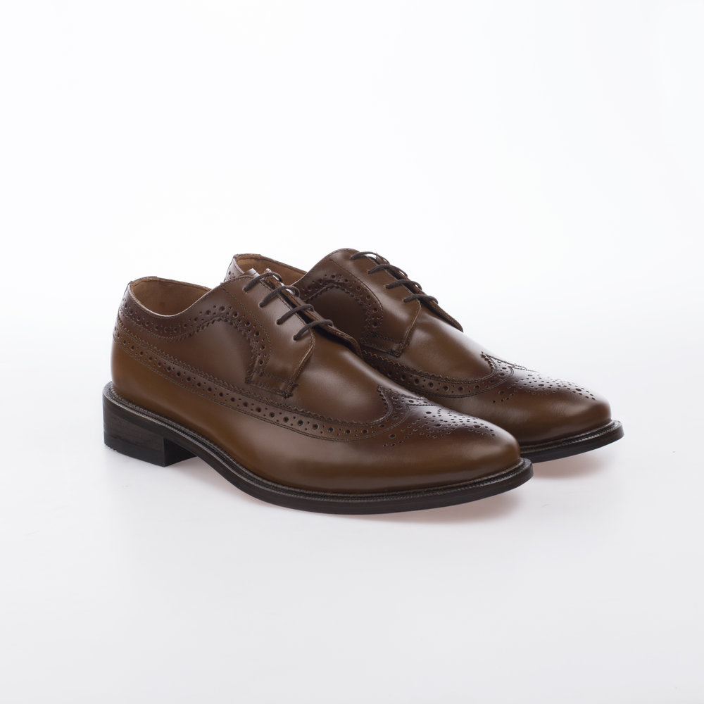 6004 Cafe $1,399 MX Zapato Derby Full Brogue.