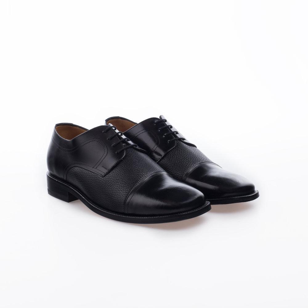 8010 Negro $1,299 MX Zapato Derby Puntera recta lisa, Combinación Venado.