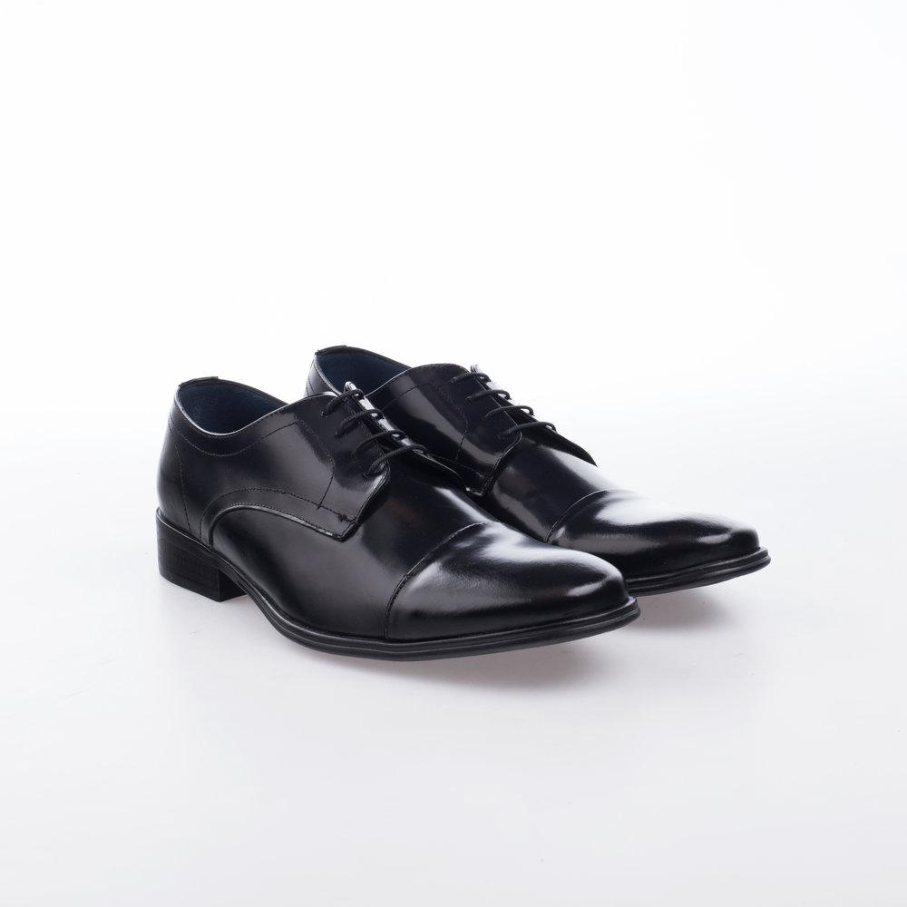 9339 Negro $999 MX Zapato Derby puntera recta, piel lisa alto brillo.