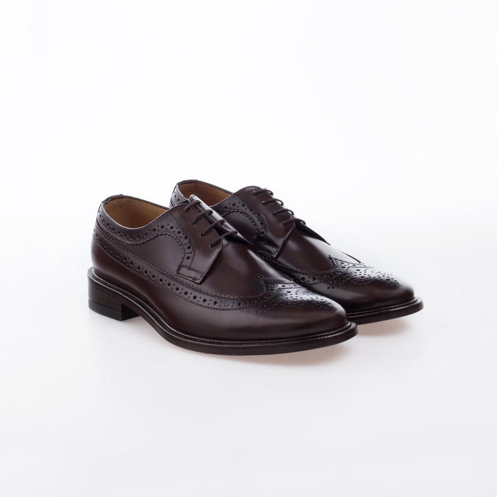 6004 Caoba $1,399 MX Zapato Derby Full Brogue.