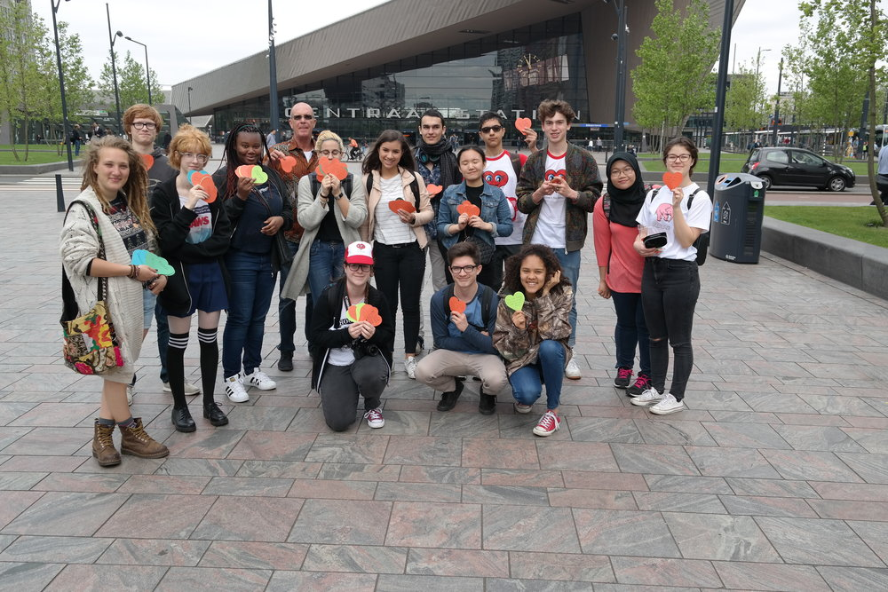 15 students from the International School of Rotterdam initiate a Peace Attack to encourage safer and kinder local communities.