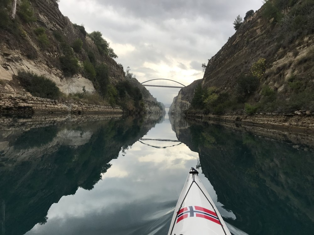 In the Corinth Canal - Nov. 18th