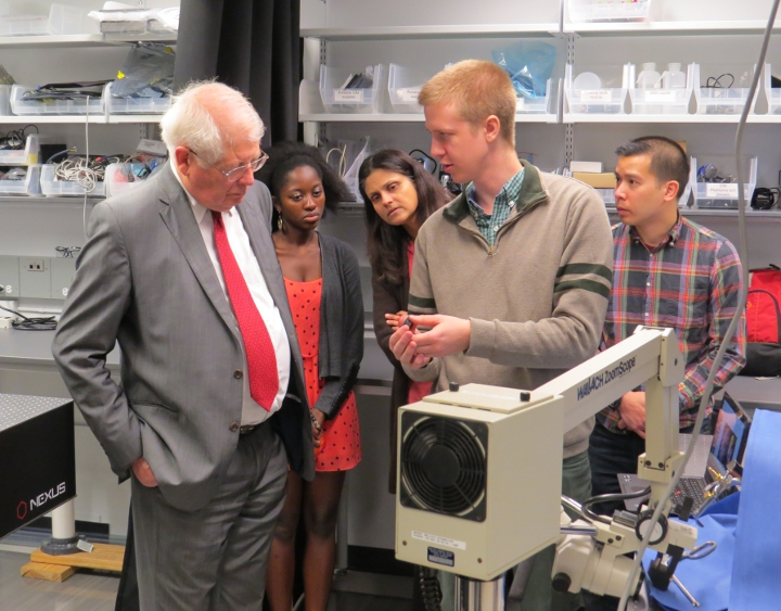 U.S. Congressman David Price visits the TOpS Lab (Nov. 2016)