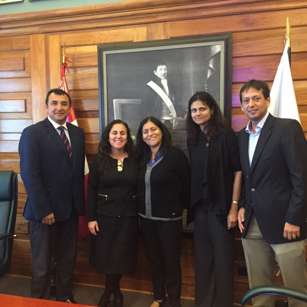 Duke cervical cancer team meet with the Peruvian Minister of Health (Sept. 2016)
