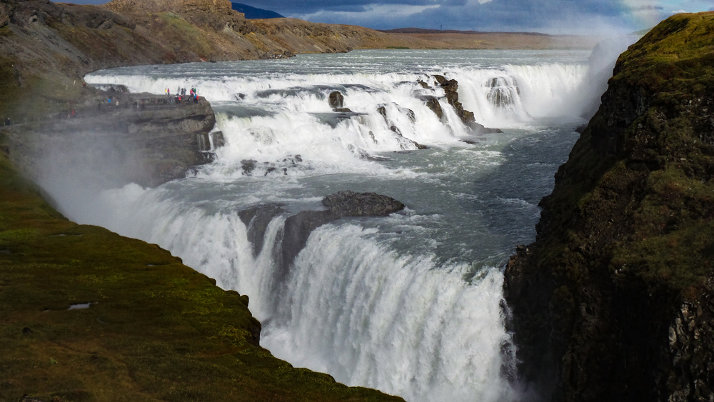 Iconic Gullfoss Waterfall Iceland