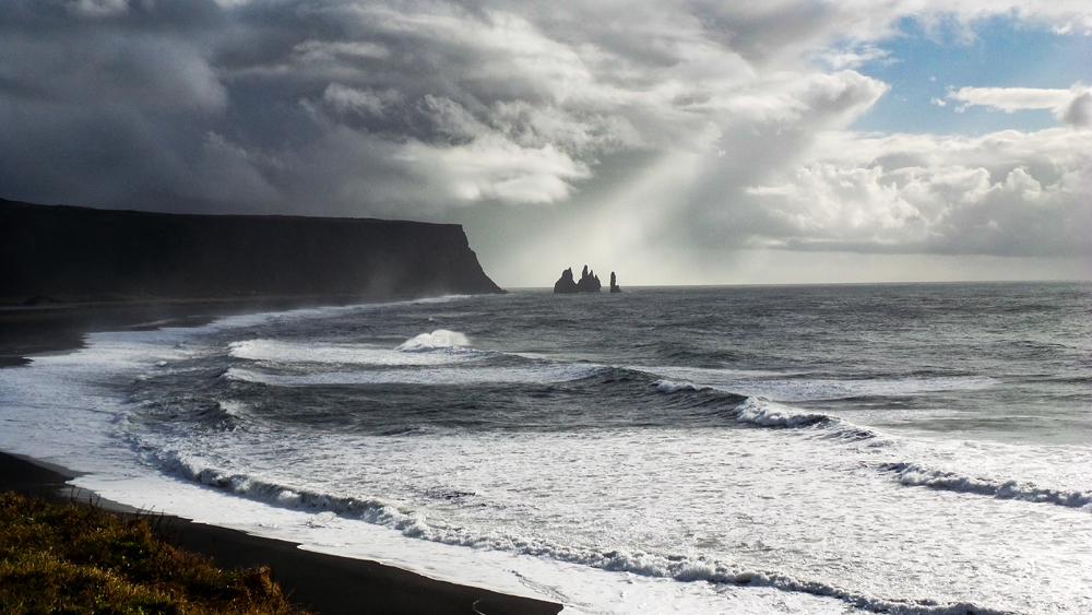 Reynisfjara Peninsula right by the town of Vik