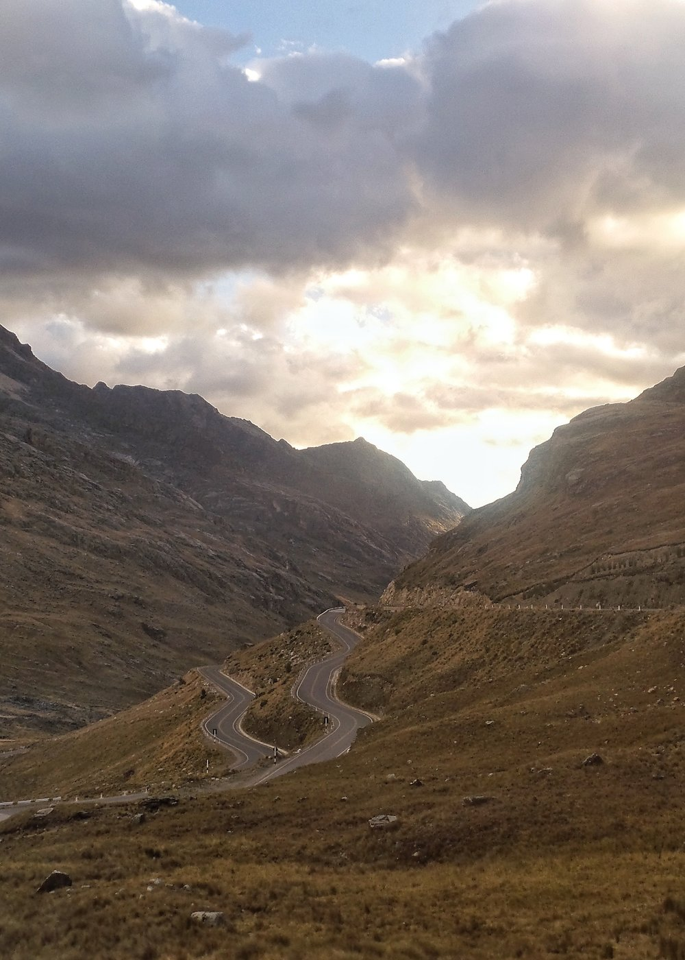 Winding Road on the Way to Chavin, Peru