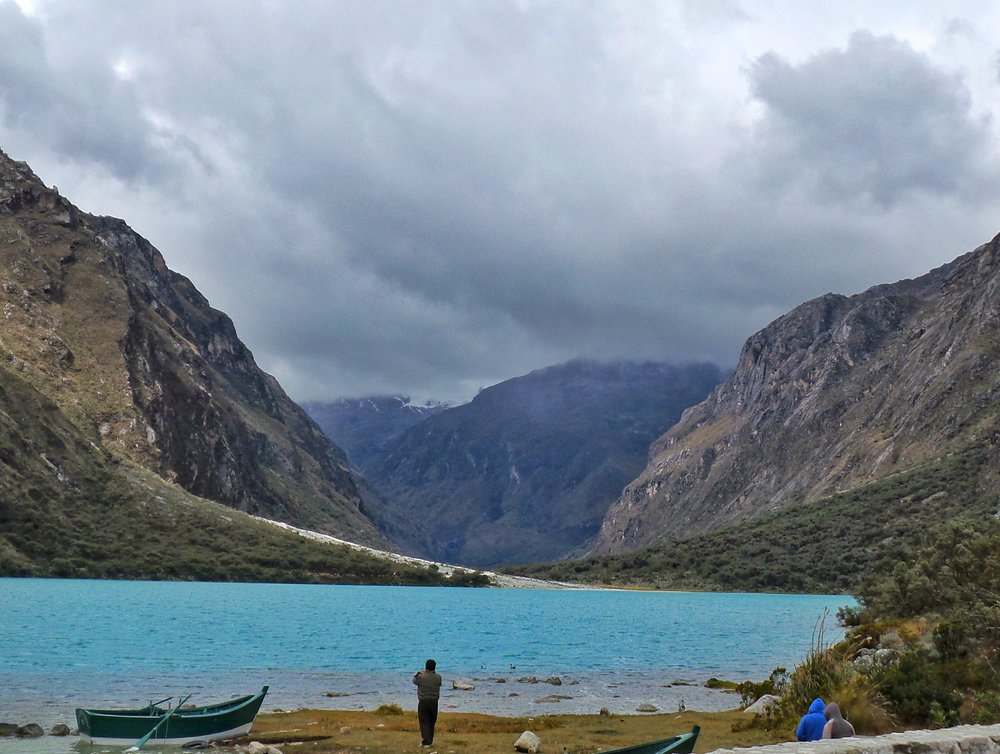 Lake Llanganuco in Huascaran National Park Peru