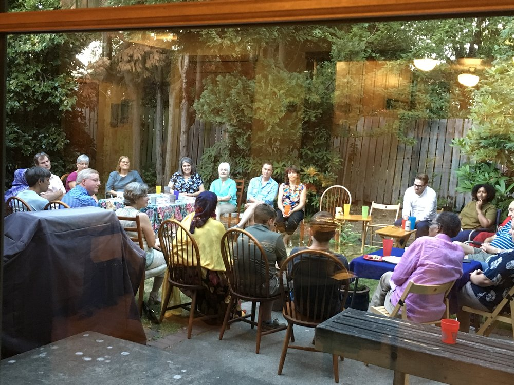 Eat With Muslims Dinner, Saturday July 29th, 2017. This dinner was hosted at the house of Marsh and Marcie Kellegrew who we met through this journey.