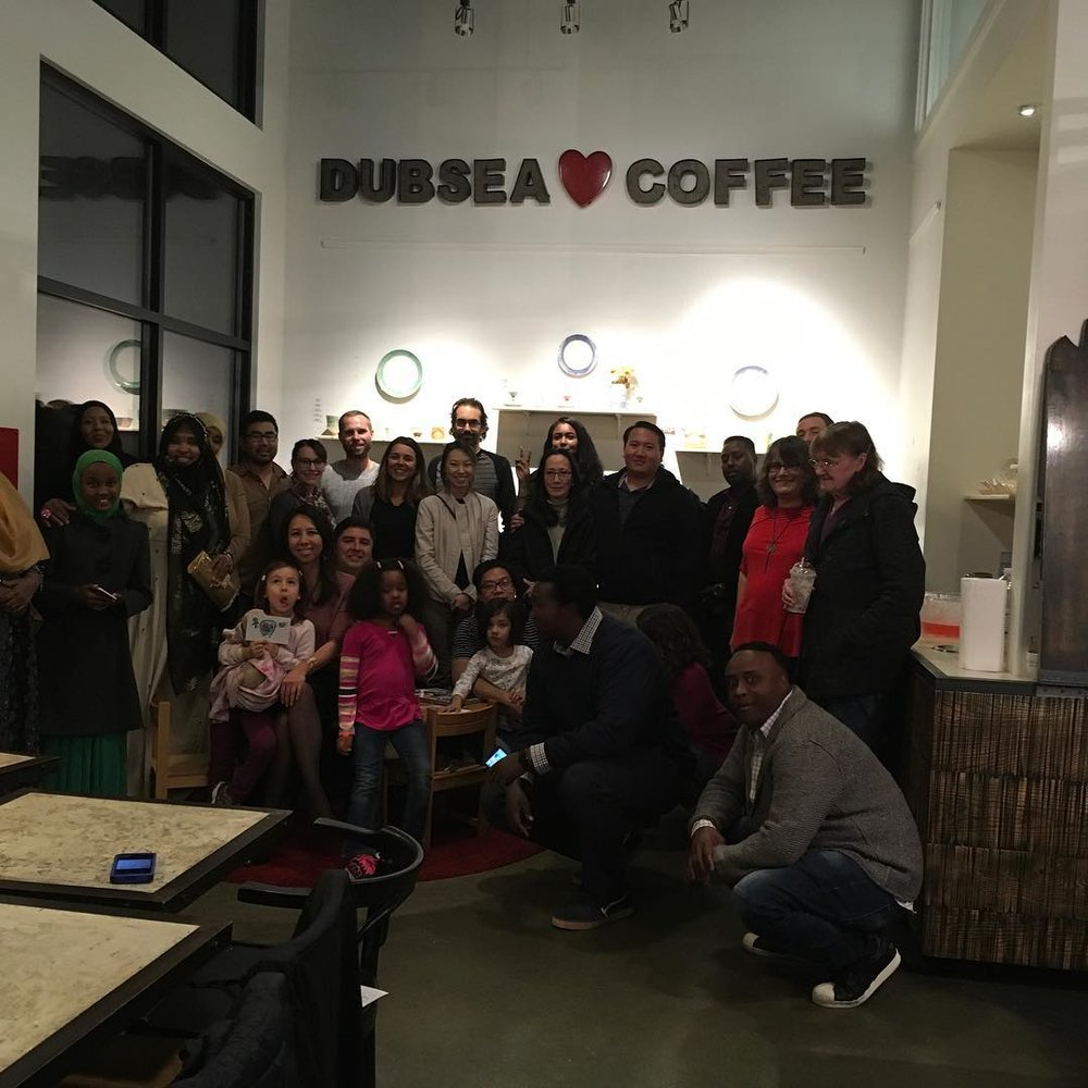 EAT WITH MUSLIMS DINNER HELD AT WHITE CENTER'S DUB SEA CAFE