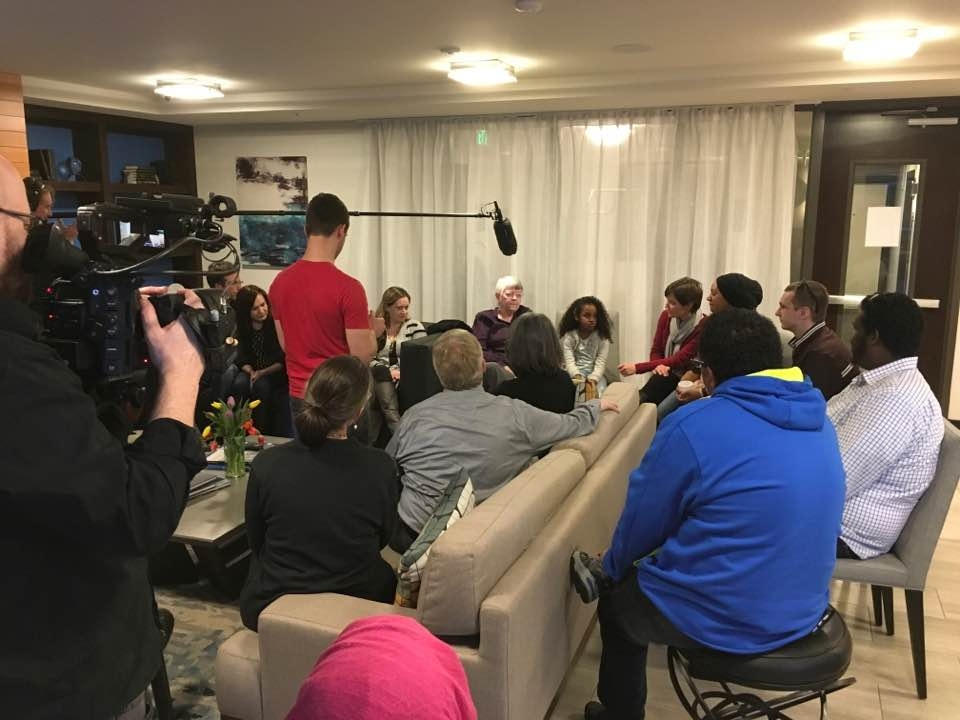 April 8th Dinner filmed by Women's March film crew