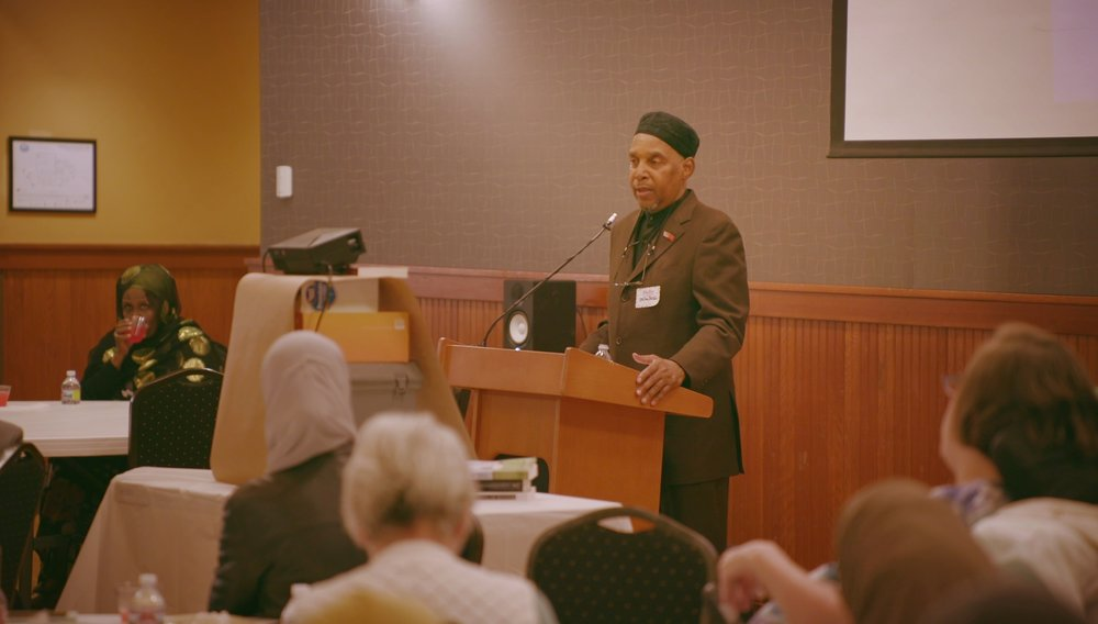 Imam Benjamin Shabazz speaking at Eat With Muslims Anniversary Dinner April 27, 2018