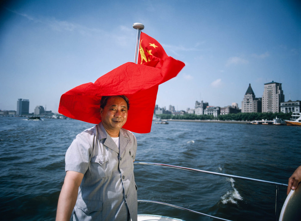 """Shanghai, China - June 1988. In 1983 Yan Runtian became the General Manager of the Shanghai Harbor Company and he has been nicknamed """"the gatekeeper of China""""."""