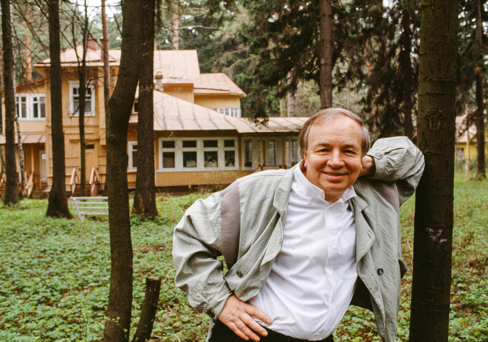Moscow, Russia, USSR - April-May 1989 Writer, composer and youth spokesperson Andrei Voznessenski.