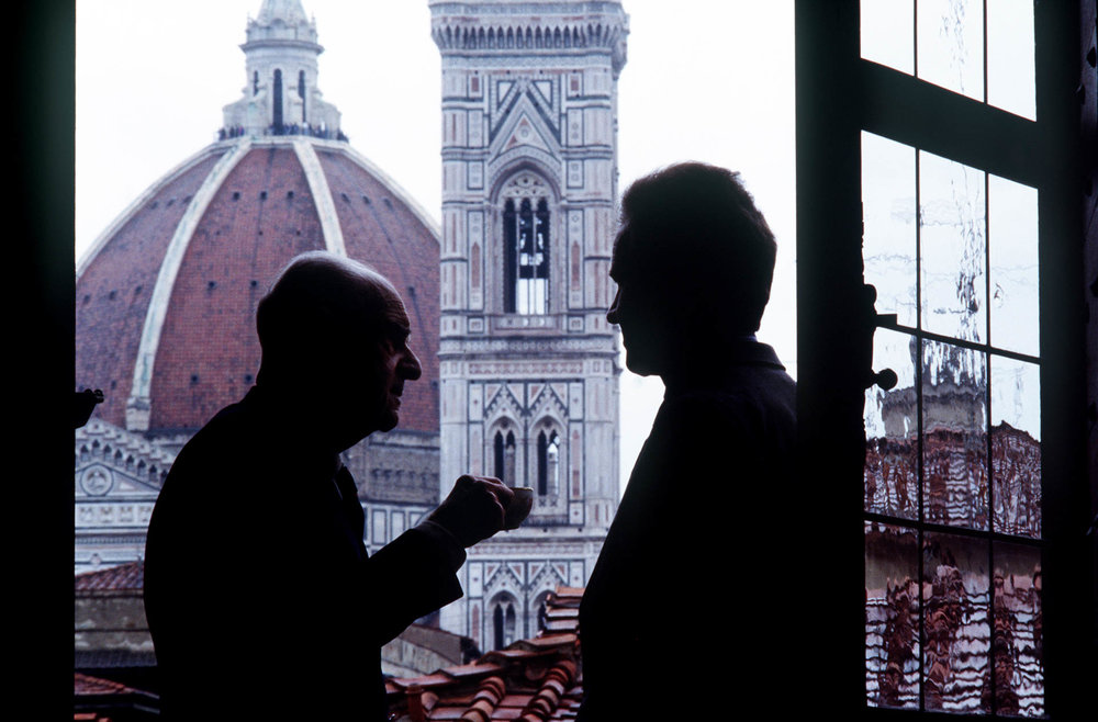 Florence, Italy 4 April 1989Marquises Niccolo and Antinori Piero, Chianti lords. Palazzo Antinori, Florence. © GIANNI GIANSANTI