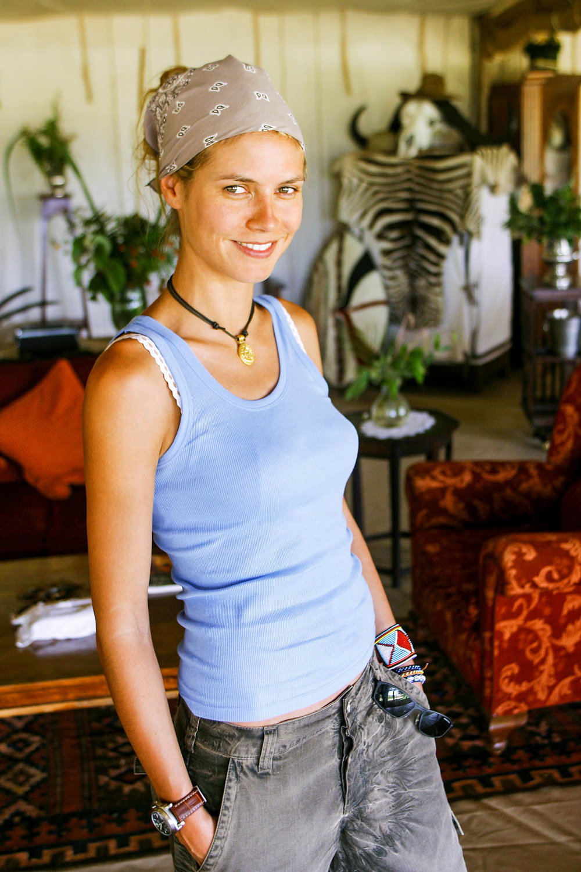 Heidi in Cottar Camp.