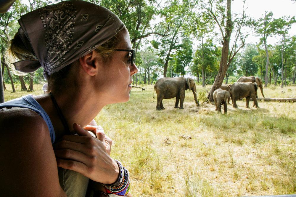 Heidi during the Safari in Masai Mara.