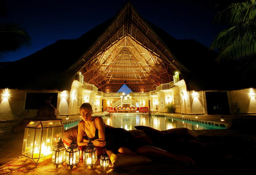 Heidi Klum in the resort Lion of the Sun.