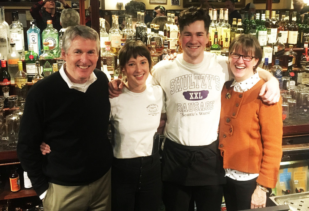 - Don, Emily, Will and Susan Schulze run the family business Shultzy's Bar & Grill.