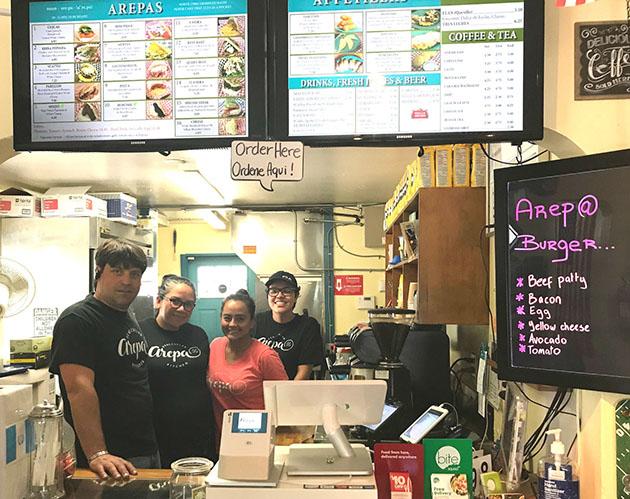 Staff of Arepa Venezuelan Kitchen. Photo by Jennifer Astion.