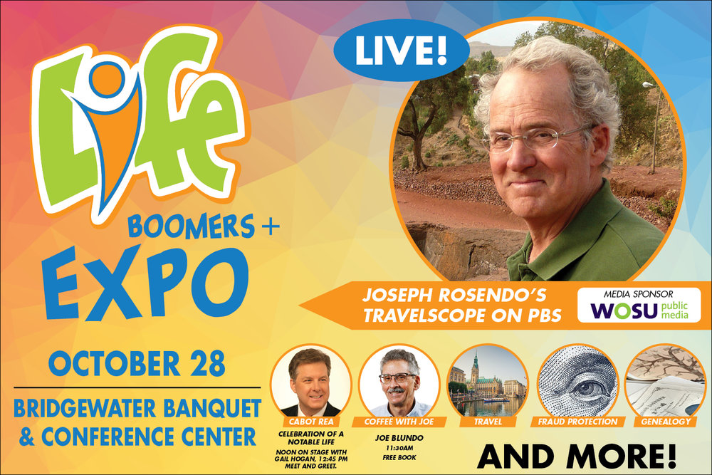 2018 LIFE Boomer Expo+ featuring Joseph Rosendo and Cabot Rea.