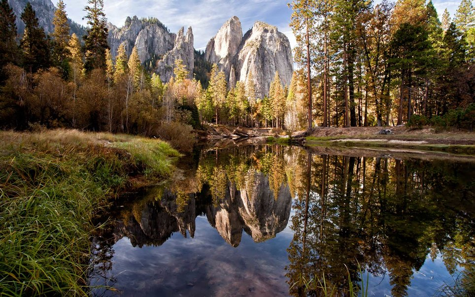 Yosemite (one of the most well known rock climbing destinations in the country thanks to its iconic wall, El Capitan) has enough outdoor recreation opportunities and breathtaking scenery for everyone to enjoy. Consider exploring the Tuolumne meadows area on the west side of the park for a more private experience.