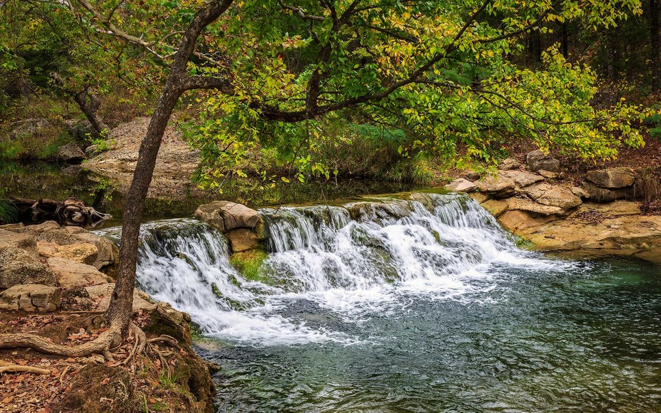 Fisherman, boaters, and swimmers alike will find what they are looking for at Chickasaw National Recreation Area in Oklahoma.
