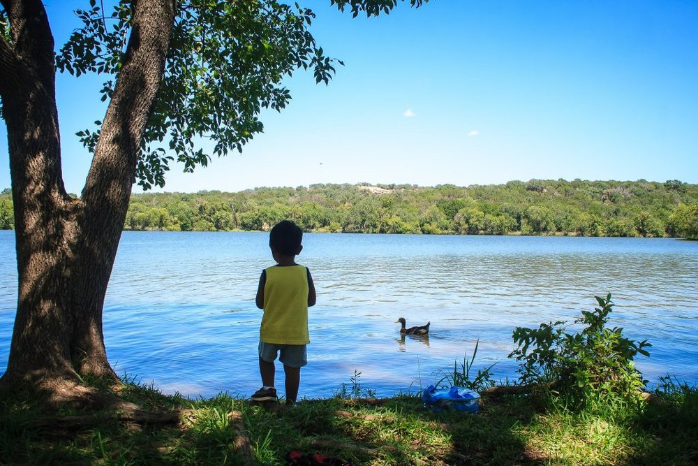 If you're willing to travel just a little farther-say, two hours-afield, Inks Lake State Park is well worth the effort.The state park has miles of hiking trails, 200 campsites and 22 cabins (two of which are ADA-accessible). Inks Lake State Park is far enough from the city to be a great spot for stargazing!