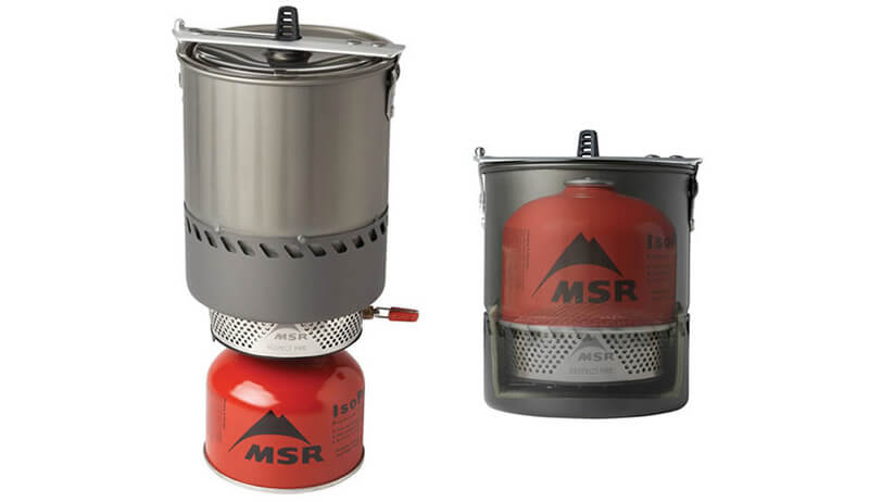 ◆ Carry matches, candles, lighters, chemical heat tabs, and canned heat in a waterproof container. ◆ Carry a stove for an additional emergency heat and water source.
