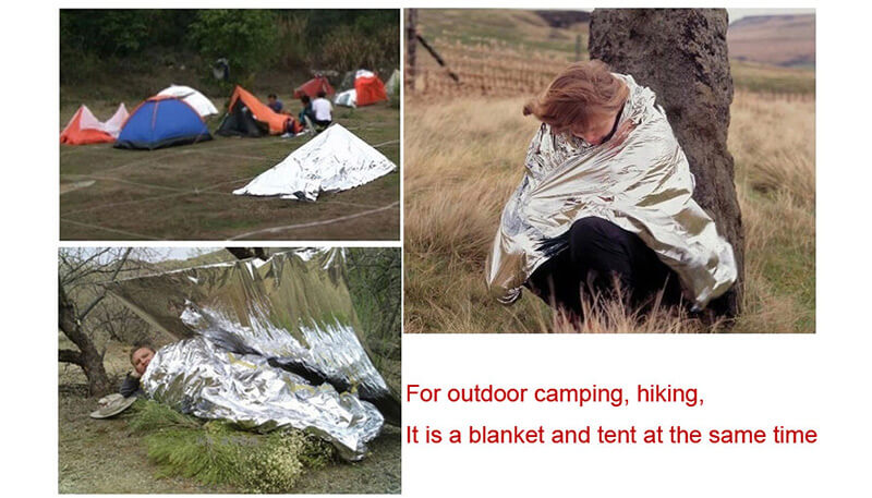 ◆ A tent, sleeping bag, raincoat or other rainproof gear is ideal. ◆ An insulated sleeping mat reduces heat loss when sitting or lying on cold surfaces.