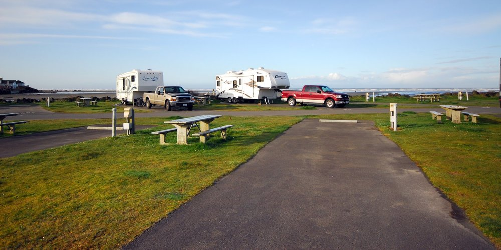 The 10-acre camping park has 2,300 feet of ocean shoreline. The two yurts are within walking distance of the beach and have bunk beds, a full-size futon and heater.
