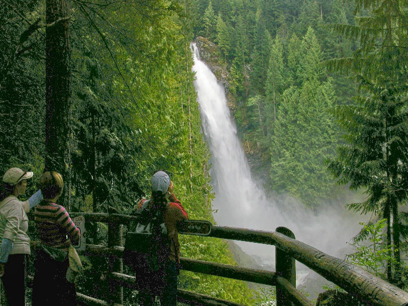 Winter is a great time to take in the splendor of Wallace Falls, the 265-foot waterfall located just outside of Gold Bar. The 4,735-acre park has five cabins within walking distance of the trailhead.