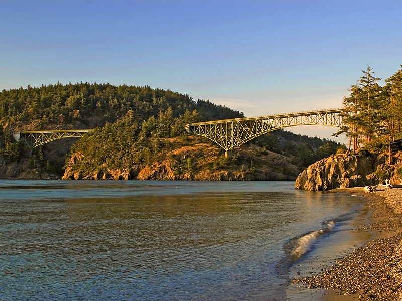 Whidbey Island's gem has plenty of trails and seashore to explore. There are five cabins in the park and, for the truly adventurous, a cabin on Ben Ure Island, only accessible by beachable human-powered watercraft such as a kayak.