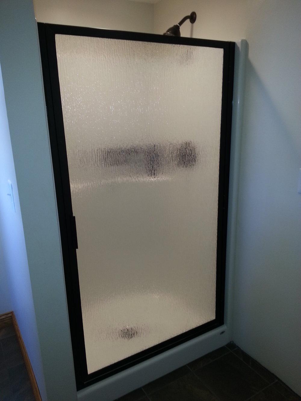 Swing Door:  Rain and Dark Bronze