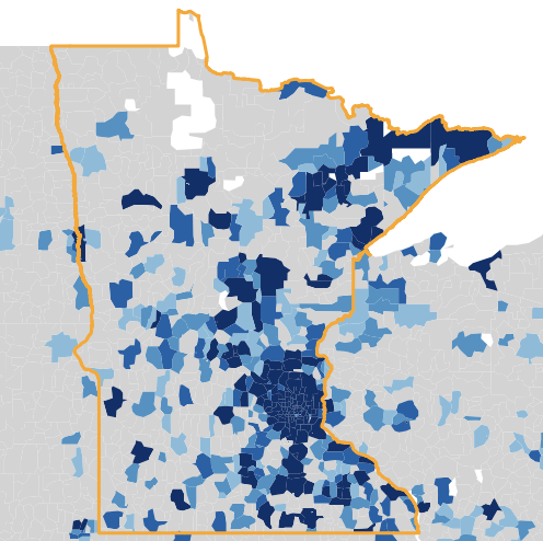 Team Usage by Zipcode MN
