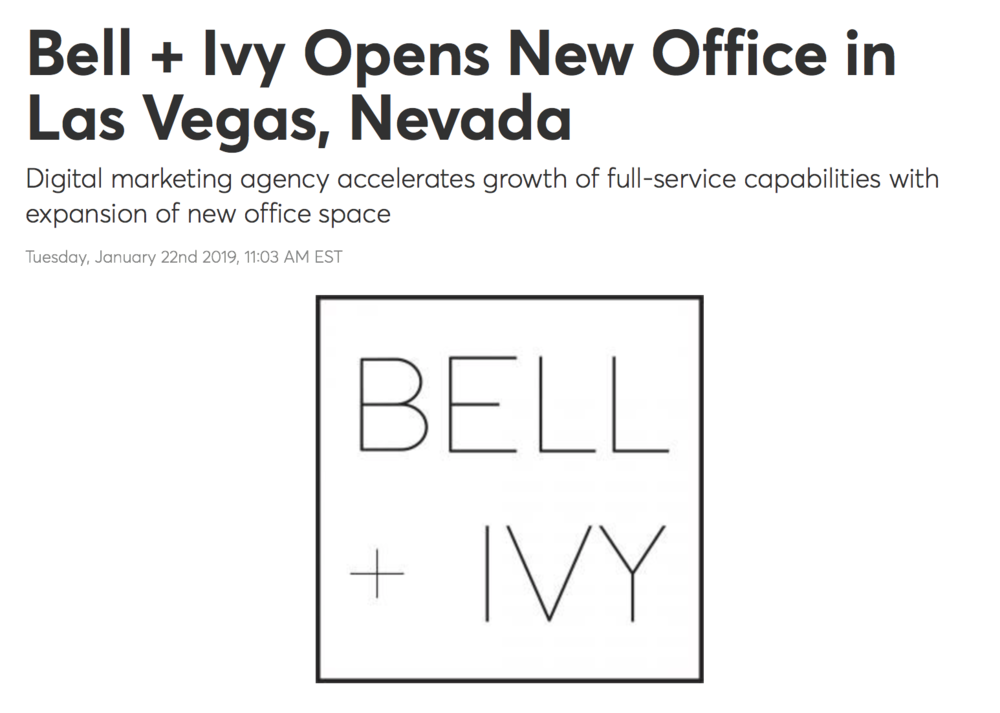 Bell + Ivy Opens Office in Las Vegas, NV - NBC